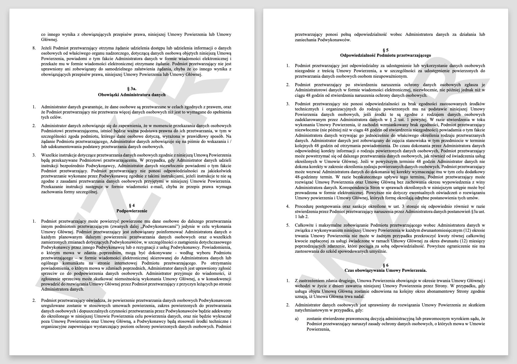 RODO - jak wygląda przykładowa umowa powierzenia przetwarzania danych w premium.pl.